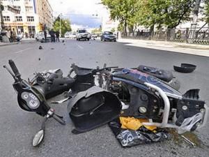 Число ДТП резко растет с появлением скутеристов на дорогах